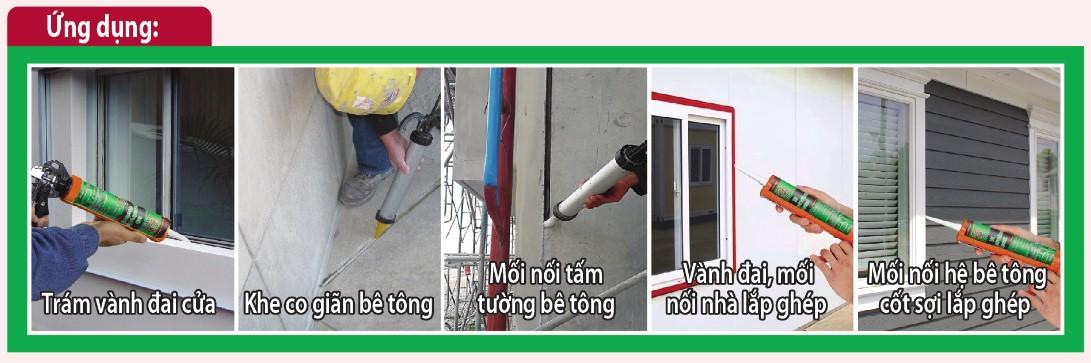Ứng dụng keo trám mối nối AS4001S