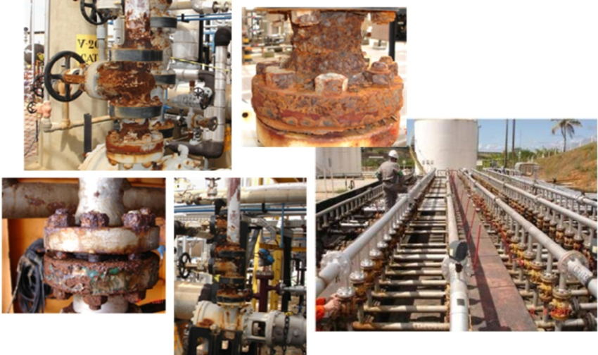 Examples of Flange corrosion