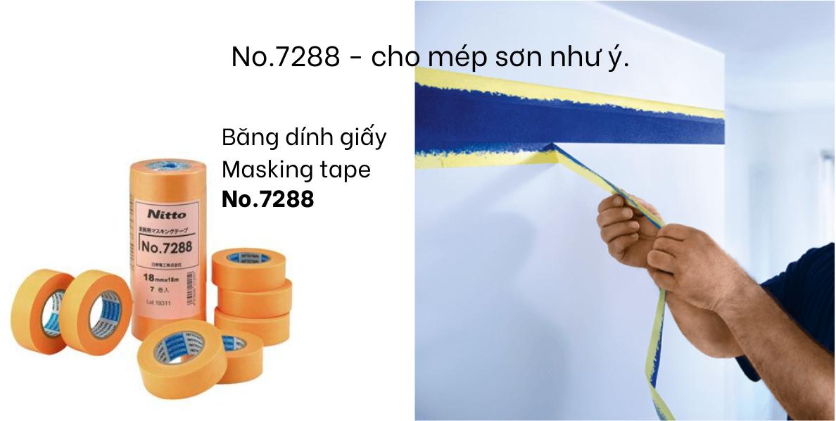 Băng dính giấy masking tape NO 7288 cho mep son nhu y