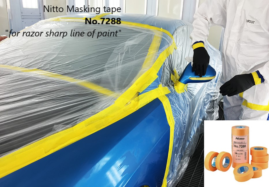 Car paint masking tape Nitto 01