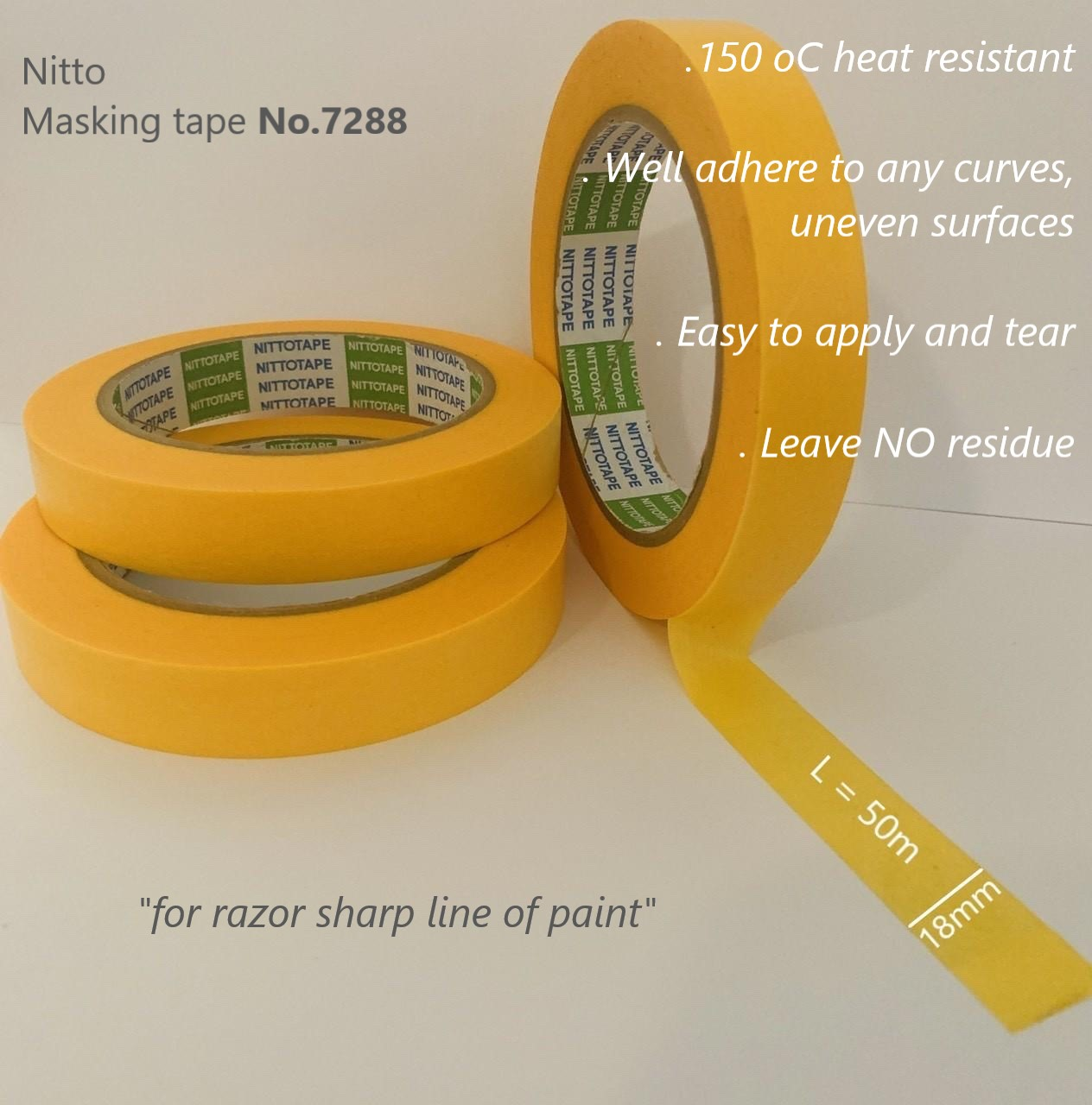 automotive painting masking tape No.7288