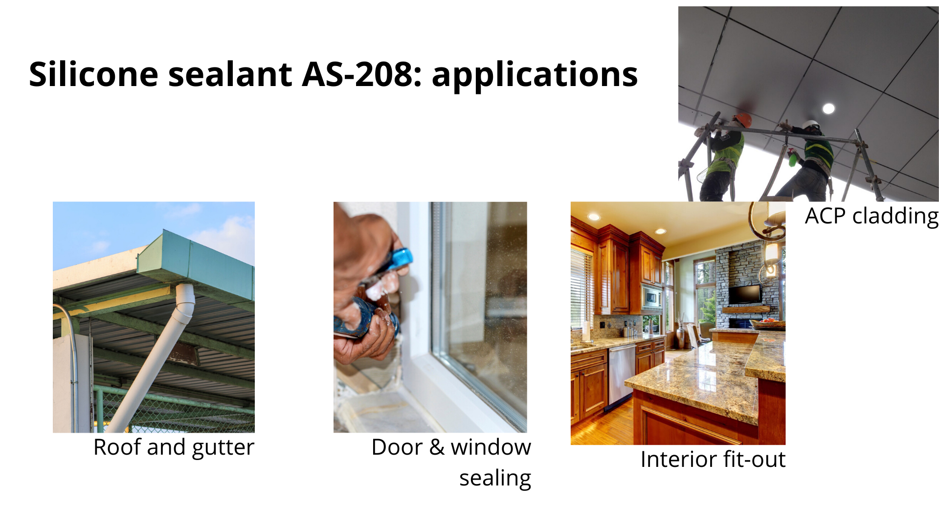 AS 208 silicone sealant. applications