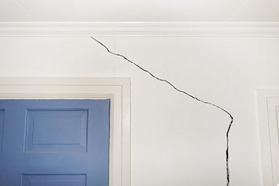 Cracks caused by house settling 2