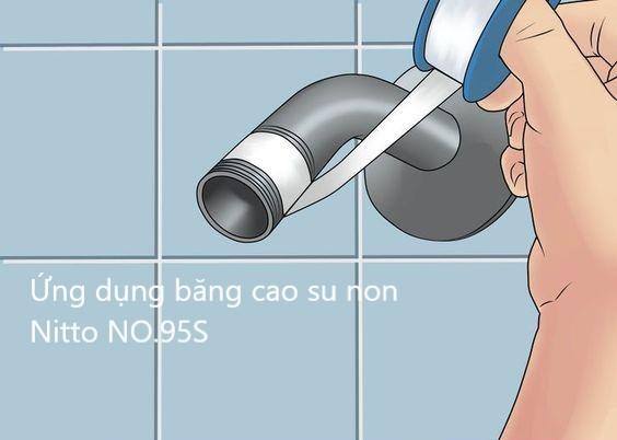 Băng tan, cao su non Nitto tape NO.95S cuốn ren lắp đường ống
