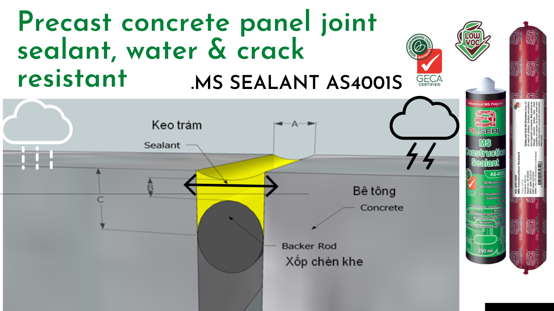 precast concrete panell joint sealant 1