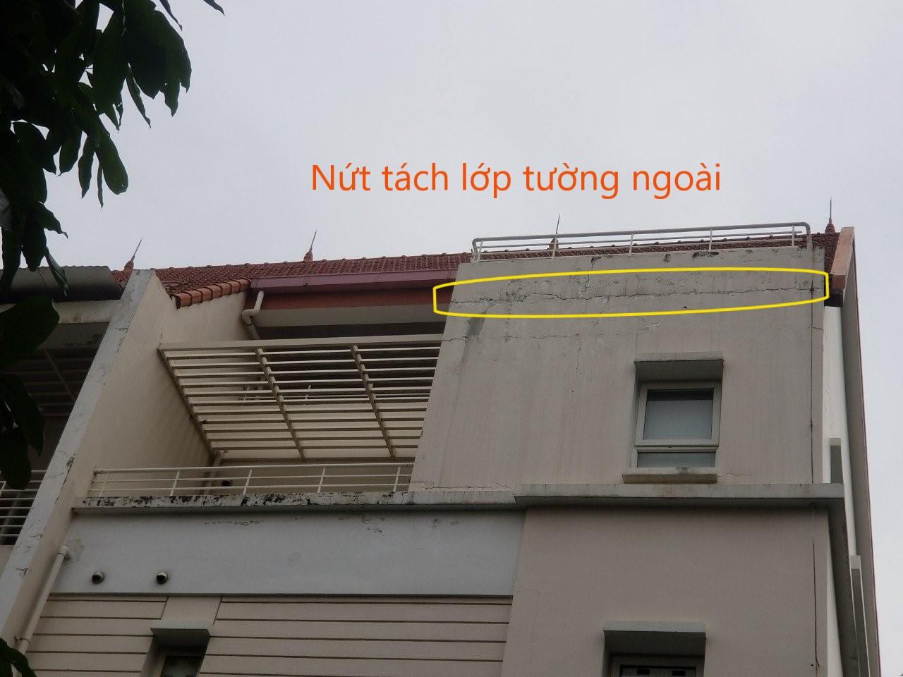 Nứt tường ngoài sau 1 thời gian sử dụng